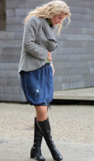 handgemachte Mode – LaJuPe - Damenrock dunkelblau