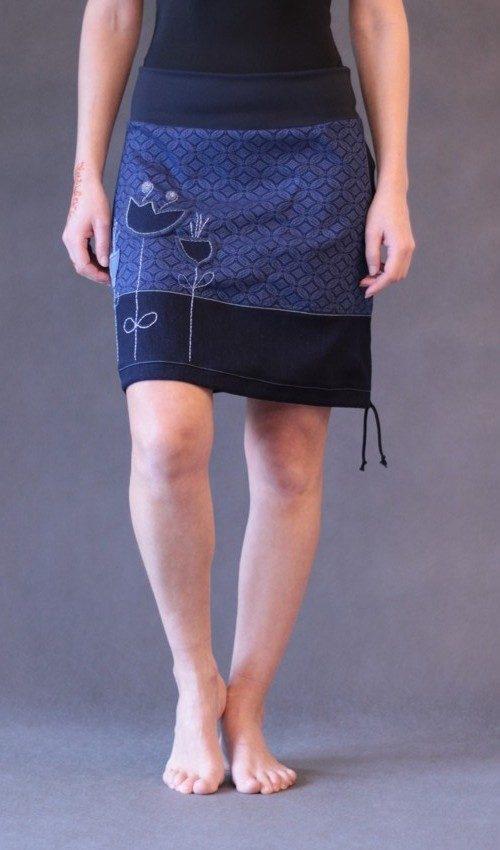 handgemachte Mode – LaJuPe - Rock blau lang