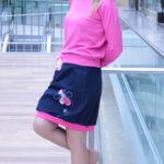 handgemachte Mode – LaJuPe - rosa Rock knielang