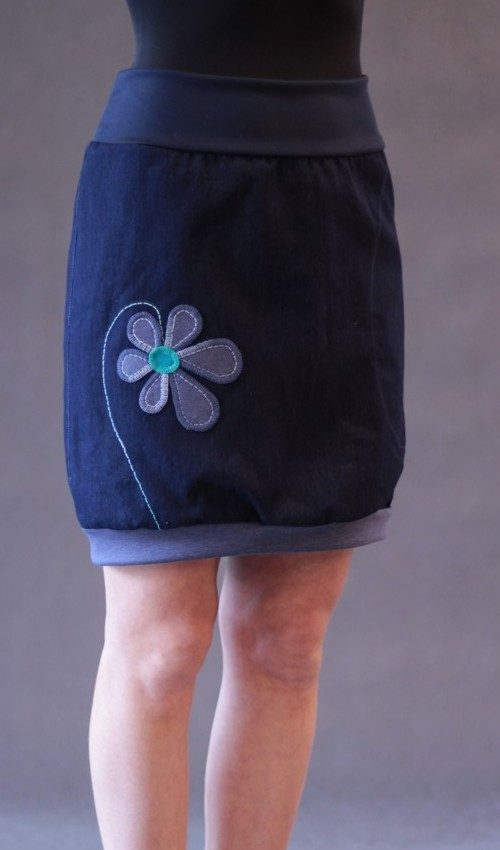 handgemachte Mode – LaJuPe - Damen Jeansrock lang