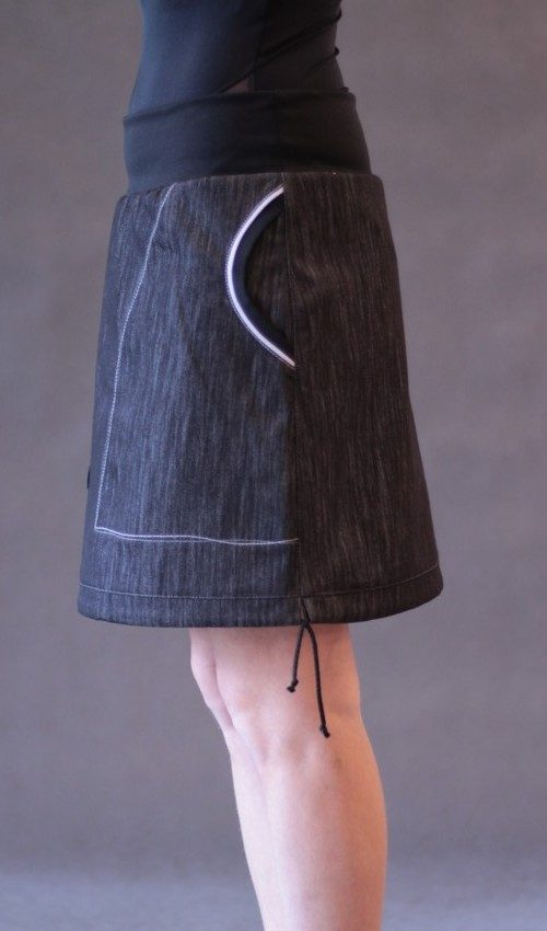 handgemachte Mode – LaJuPe - Rock schwarz knielang