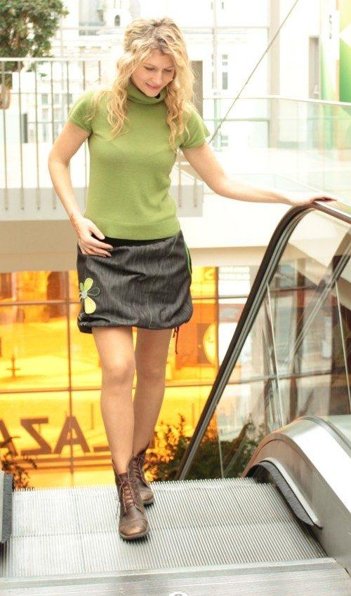 handgemachte Mode – LaJuPe - schwarzer Jeansrock