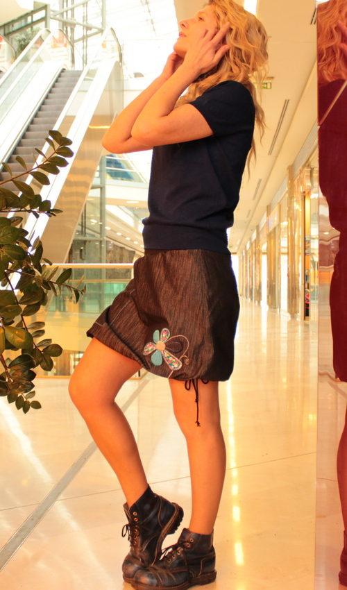 handgemachte Mode – LaJuPe - schwarzer Rock kurz