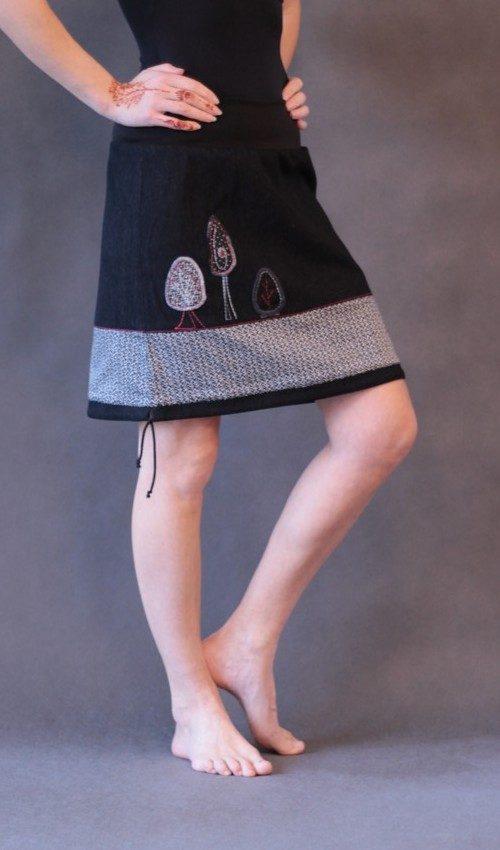 handgemachte Mode – LaJuPe - Rock Damen schwarz