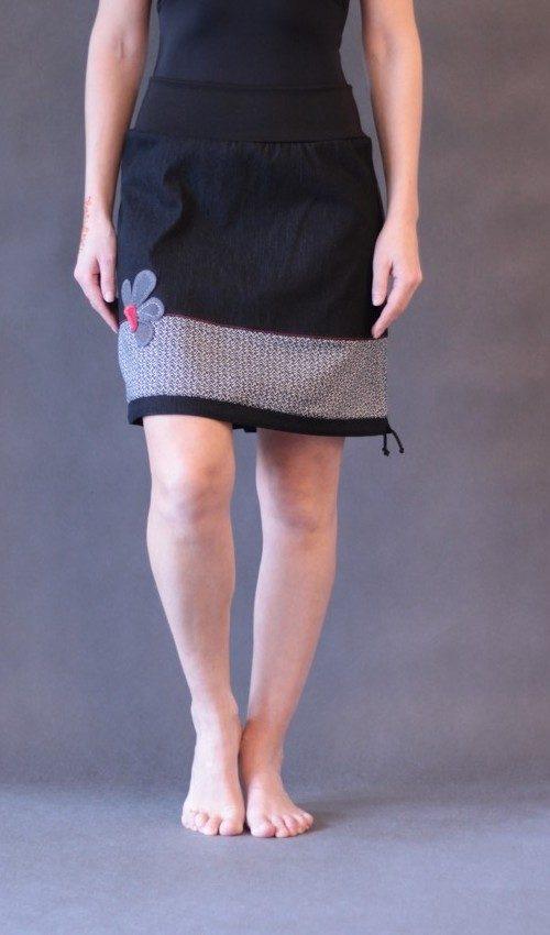 handgemachte Mode – LaJuPe - Damen rock schwarz kurz