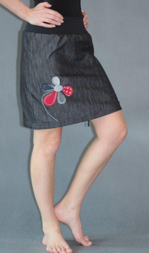 handgemachte Mode – LaJuPe - Rock knielang schwarz