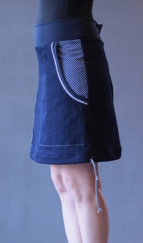 handgemachte Mode – LaJuPe - blauer Rock lang