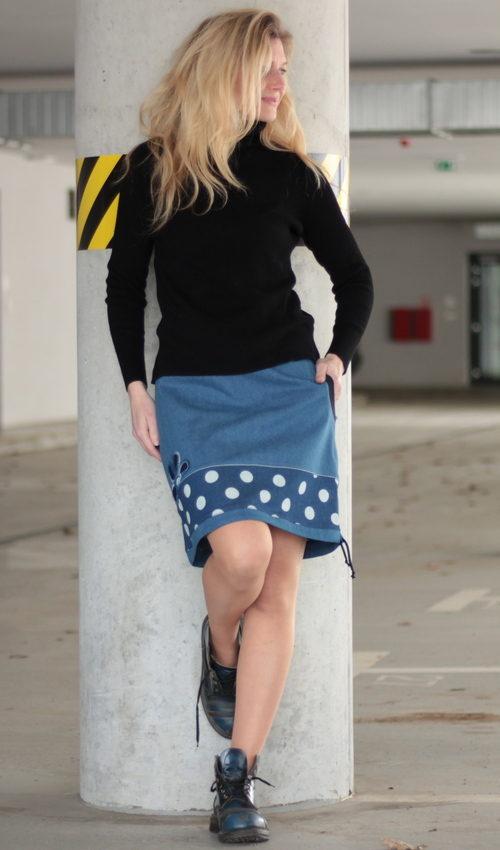handgemachte Mode – LaJuPe - langer Rock Baumwolle