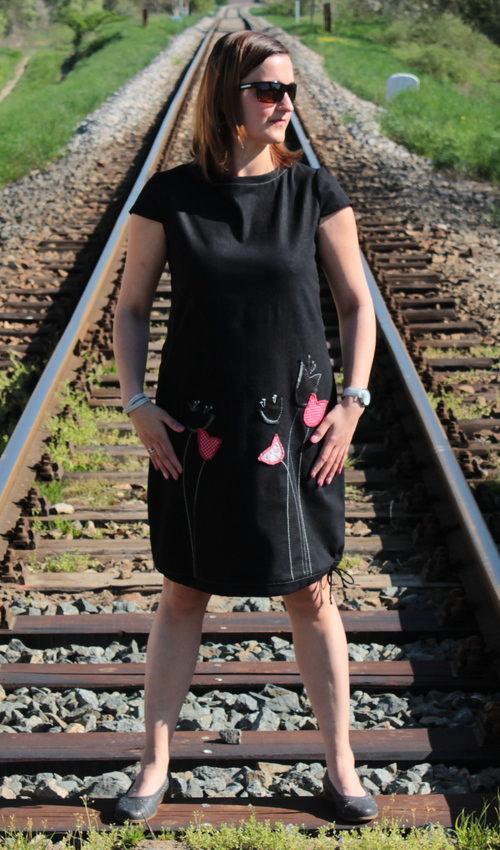handgemachte Mode – LaJuPe - schwarzes Kleid kurz