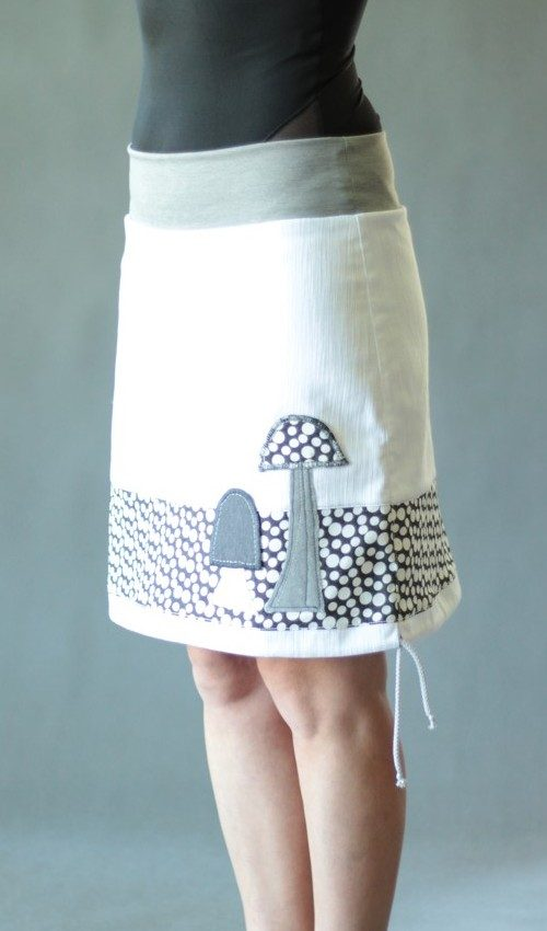 handgemachte Mode – LaJuPe - Baumwollrock weiss