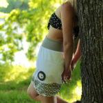 handgemachte Mode – LaJuPe - weißer Jeansrock kurz