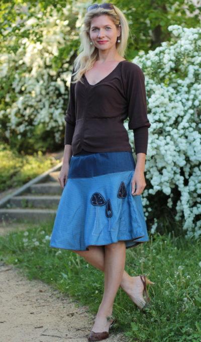 handgemachte Mode – LaJuPe - Rock blau