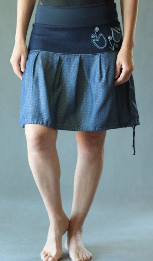 handgemachte Mode – LaJuPe - blauer kurzer Rock