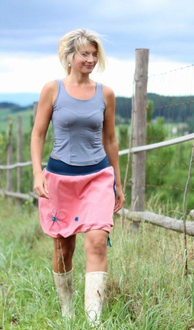 handgemachte Mode – LaJuPe - rosa Rock Damen