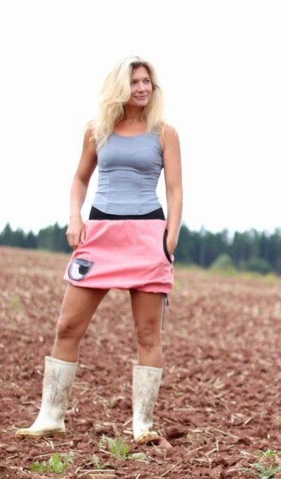 handgemachte Mode – LaJuPe - rosa Rock