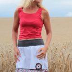handgemachte Mode – LaJuPe - weißer Rock knielang