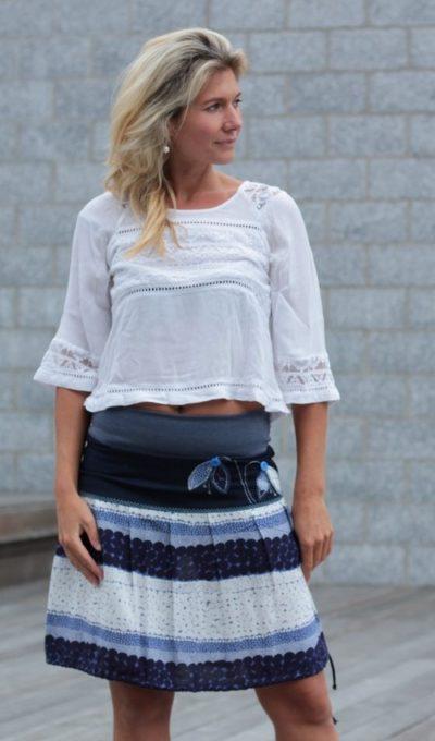 handgemachte Mode – LaJuPe - Blumenrock kurz