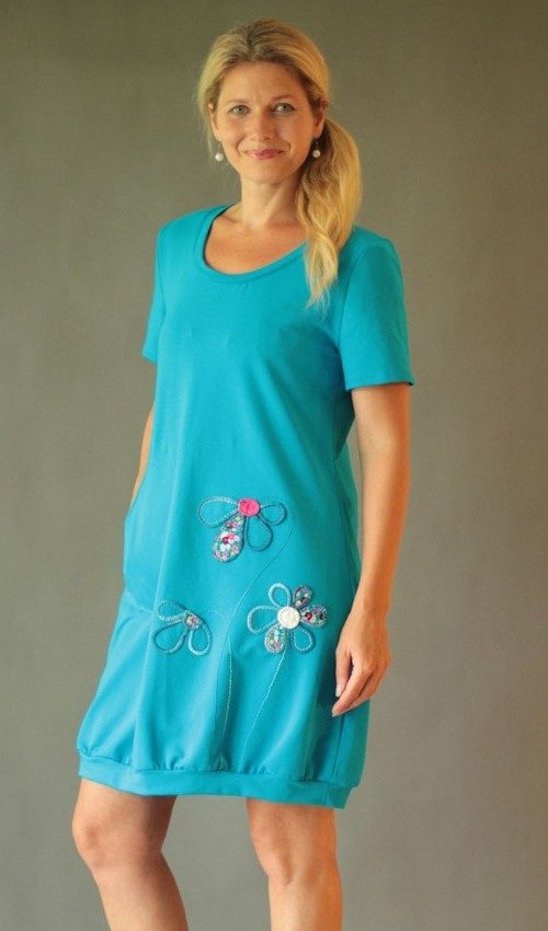 handgemachte Mode – LaJuPe - Abendkleid türkis