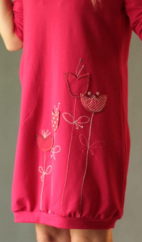 handgemachte Mode – LaJuPe - rotes Kleid