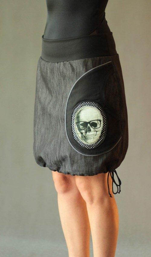 handgemachte Mode – LaJuPe - schwarzer Jeansrock knielang