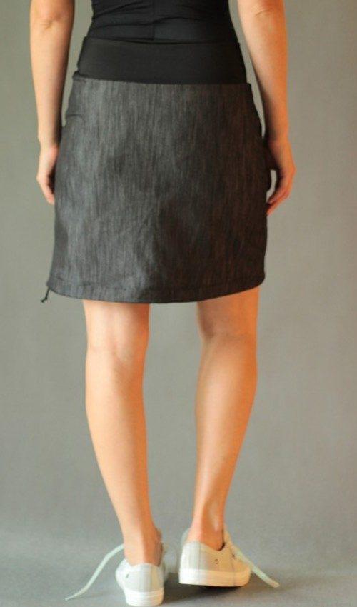 handgemachte Mode – LaJuPe - Damen Jeansrock schwarz