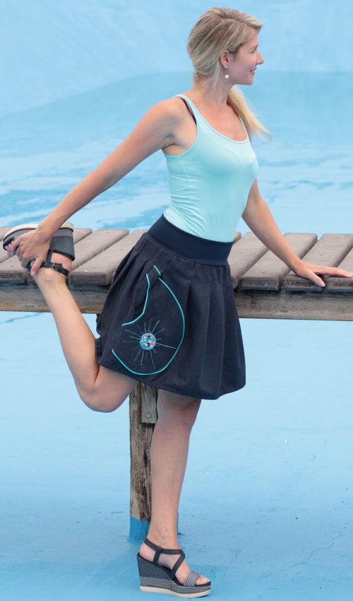handgemachte Mode – LaJuPe - langer Leinenrock