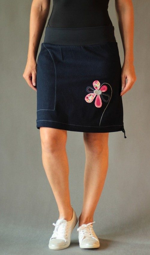 handgemachte Mode – LaJuPe - Rock blau kurz
