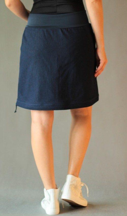 handgemachte Mode – LaJuPe - Rock knielang blau