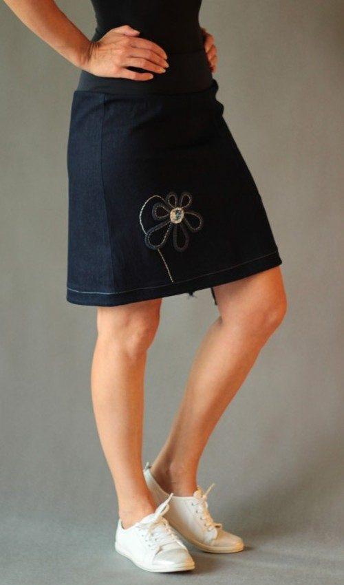 handgemachte Mode – LaJuPe - langer enger Jeansrock
