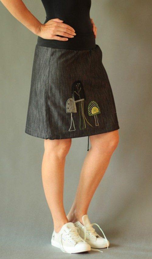 handgemachte Mode – LaJuPe - knielanger Rock schwarz