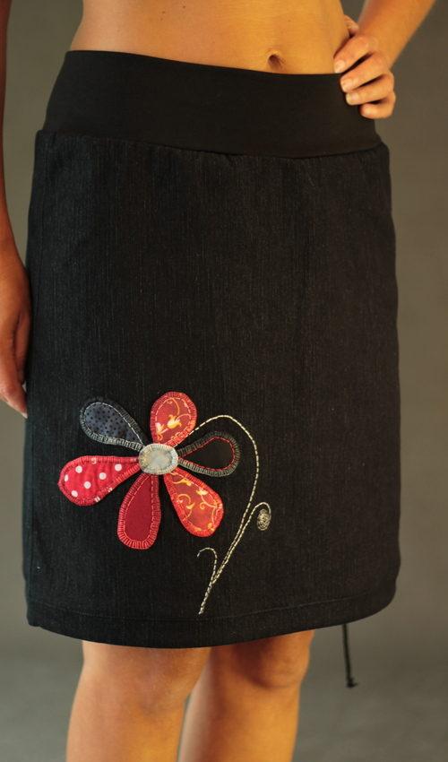 handgemachte Mode – LaJuPe - Jeansrock schwarz kurz