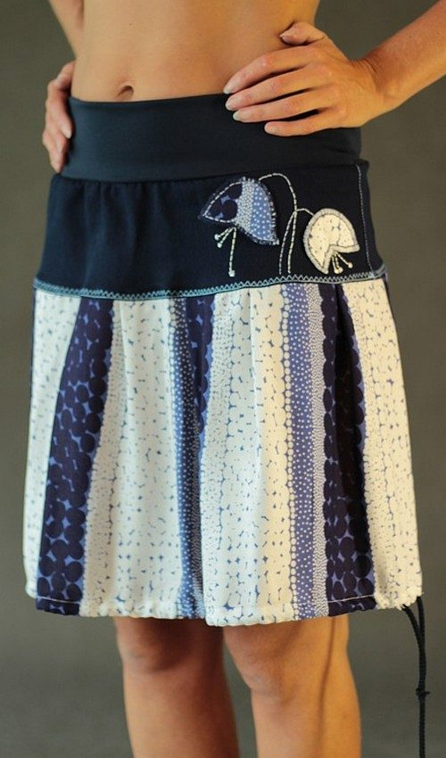 handgemachte Mode – LaJuPe - Sommerrock Damen knielang