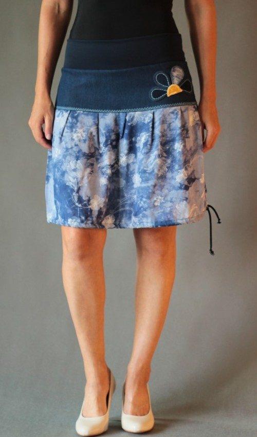handgemachte Mode – LaJuPe - midi Rock Blumen