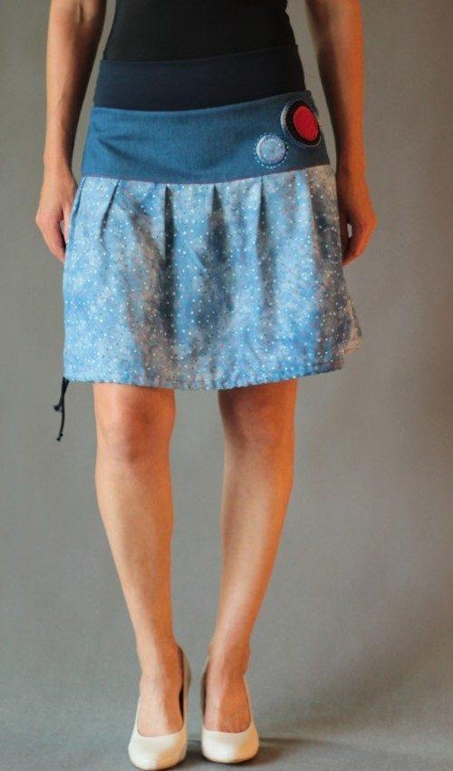 handgemachte Mode – LaJuPe - Midirock Blumen