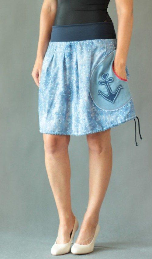handgemachte Mode – LaJuPe - Rock knielang Sommer