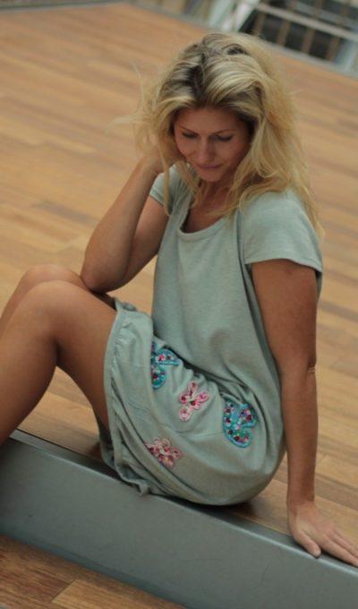 handgemachte Mode – LaJuPe - Kleid grau
