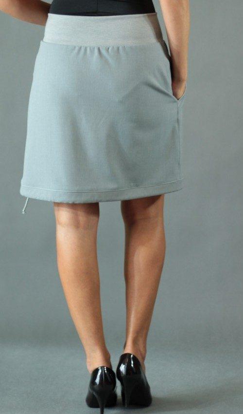 handgemachte Mode – LaJuPe - grauer langer Rock