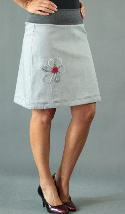handgemachte Mode – LaJuPe - Rock grau
