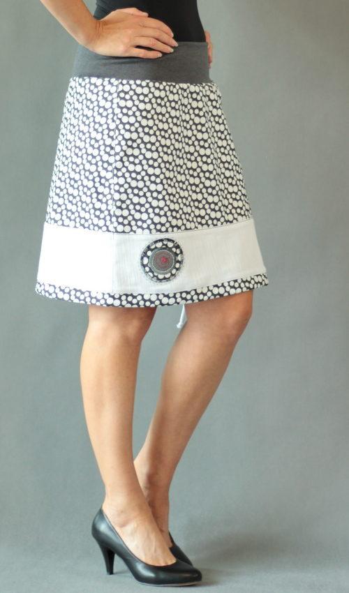 handgemachte Mode – LaJuPe - Rock weiß knielang