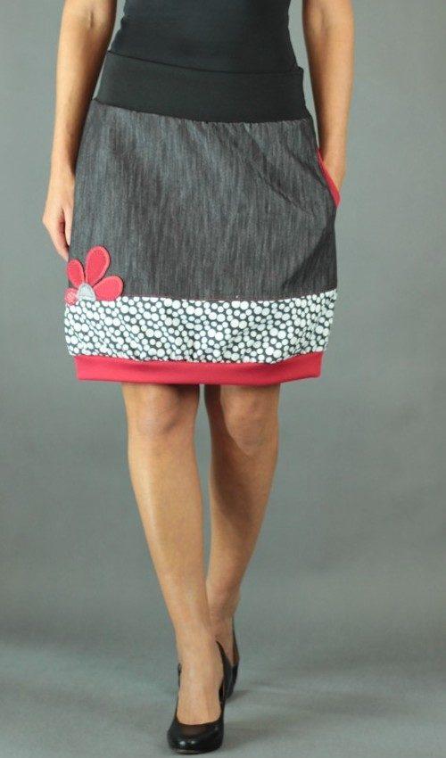 handgemachte Mode – LaJuPe - Rock schwarz weiß