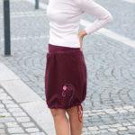 handgemachte Mode – LaJuPe - Maxirock weinrot