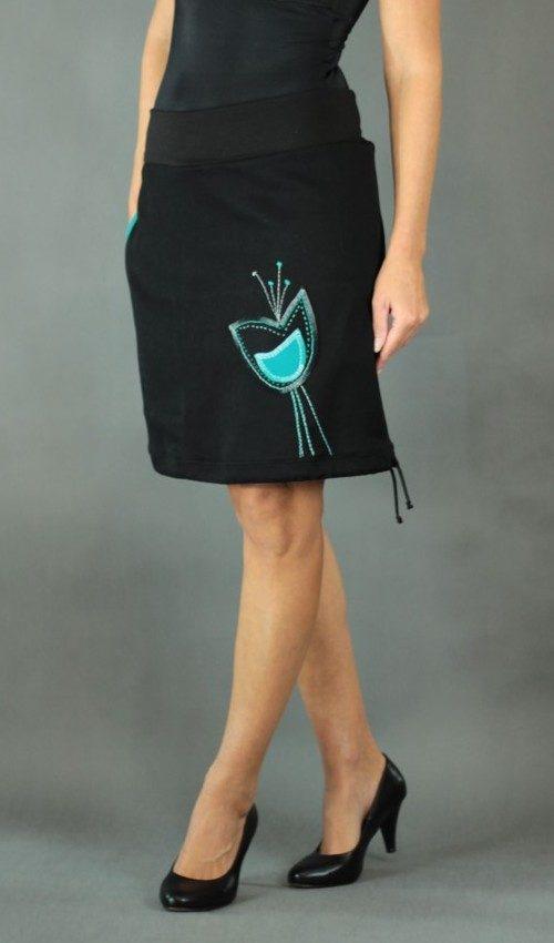 handgemachte Mode – LaJuPe - langer Rock schwarz
