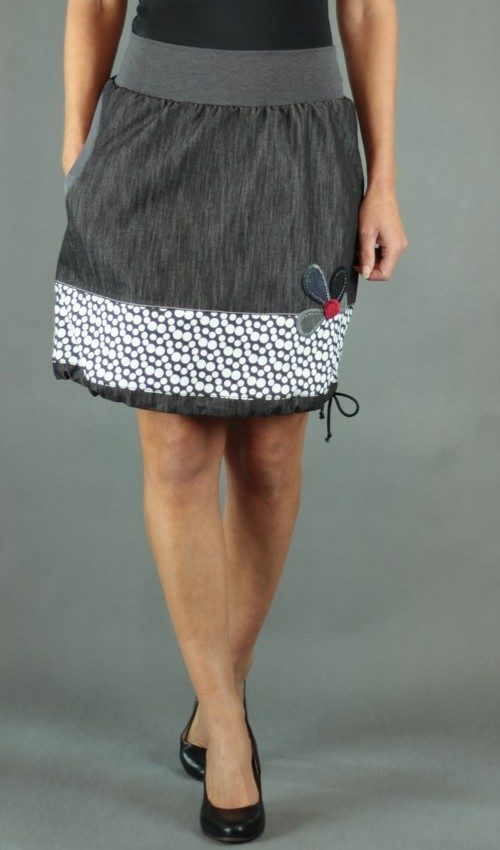 handgemachte Mode – LaJuPe - weißer kurzer Rock