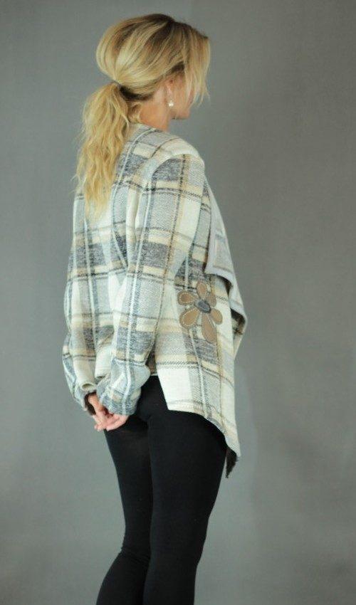 handgemachte Mode – LaJuPe - Strickjacke Damen lang