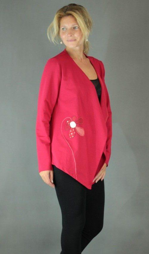 handgemachte Mode – LaJuPe - Cardigan rot