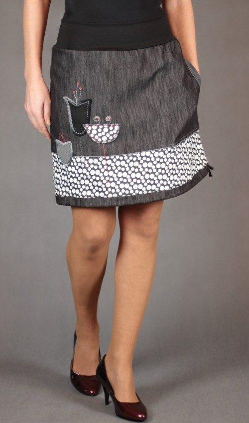 handgemachte Mode – LaJuPe - Rock knielang Damen