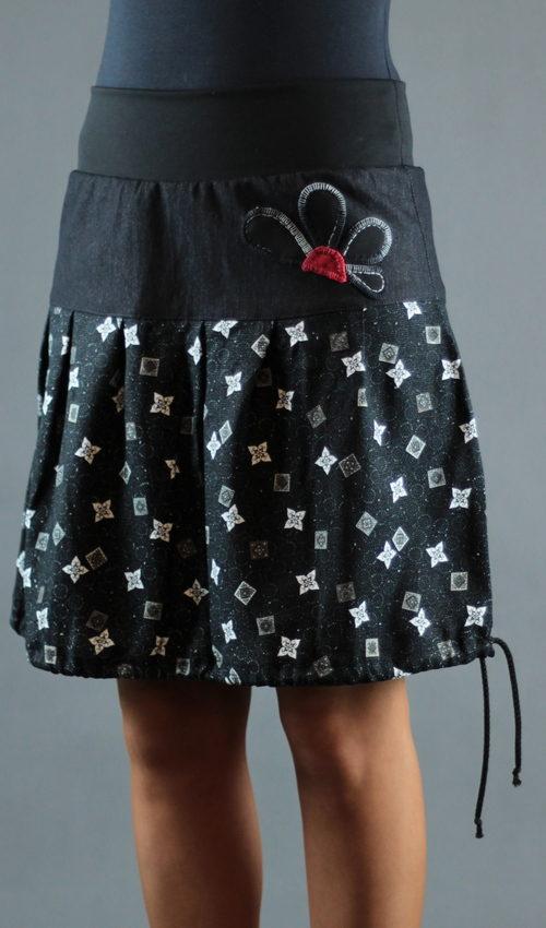 handgemachte Mode - LaJuPe - Damen Rock schwarz lang