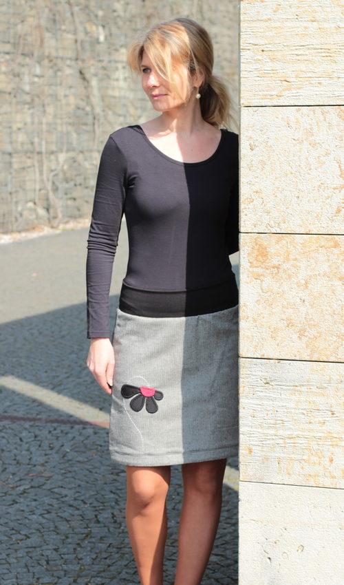handgemachte Mode - LaJuPe - tweed Rock Damen