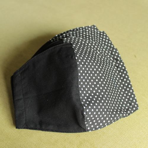 schwarze Mundschutzmasken
