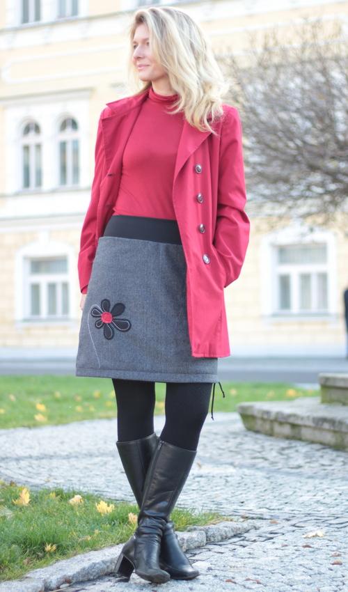 Wollrock Damen handgemachtemode.eu
